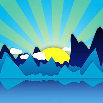 morning mountain sunrise background - vector gratuit #134223