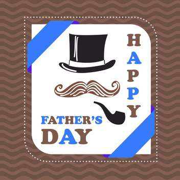 happy fathers day card - vector #134283 gratis