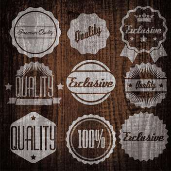 quality and guaranteed emblems and labels - vector gratuit #134303