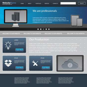 abstract website template background - vector #134453 gratis
