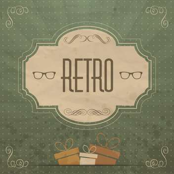 retro label art background - vector gratuit #134463