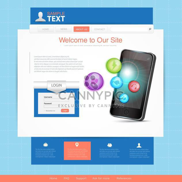business website template background - Free vector #134533