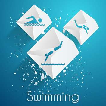 swimming contest vector icons set - бесплатный vector #134583