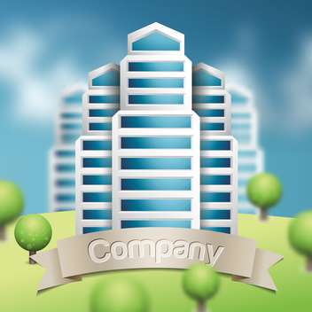 graphical vector urban cityscape - Free vector #134603