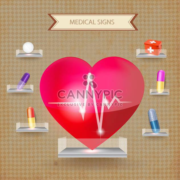 first aid medical sign illustration - Free vector #134613