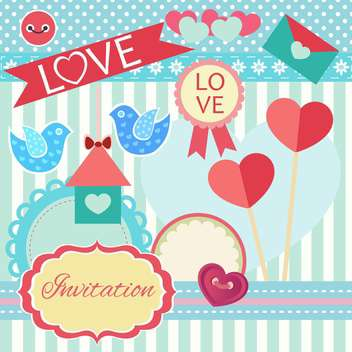 gift cards and invitations with ribbons - vector #134643 gratis