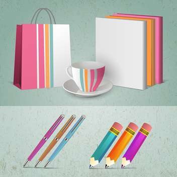 abstract office supplies background - vector gratuit #134673