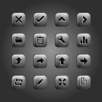 set of web buttons collection - Free vector #134693