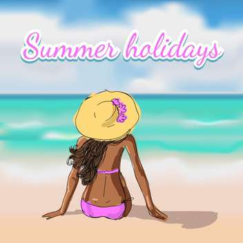 summer holidays vacation background - бесплатный vector #134723