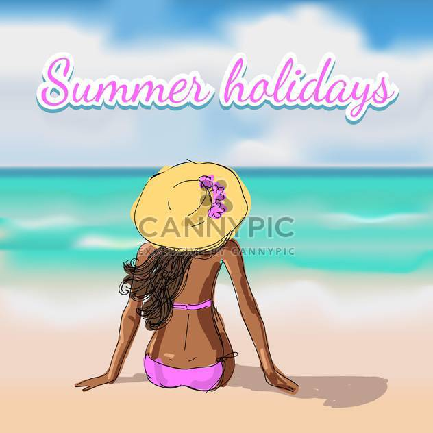summer holidays vacation background - Free vector #134723