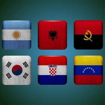 world countries vector flags - vector #134753 gratis