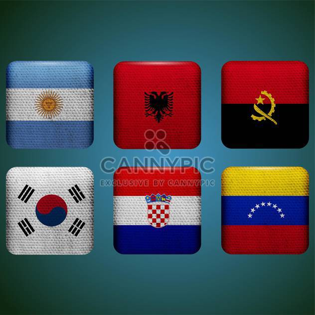 world countries vector flags - Free vector #134753