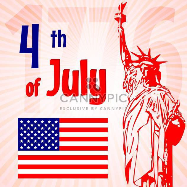 vintage vector independence day background - Free vector #134763