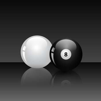 billiard game balls vector illustration - vector #134783 gratis