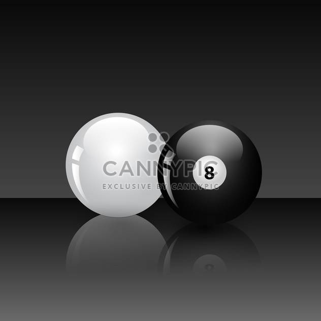 billiard game balls vector illustration - Free vector #134783