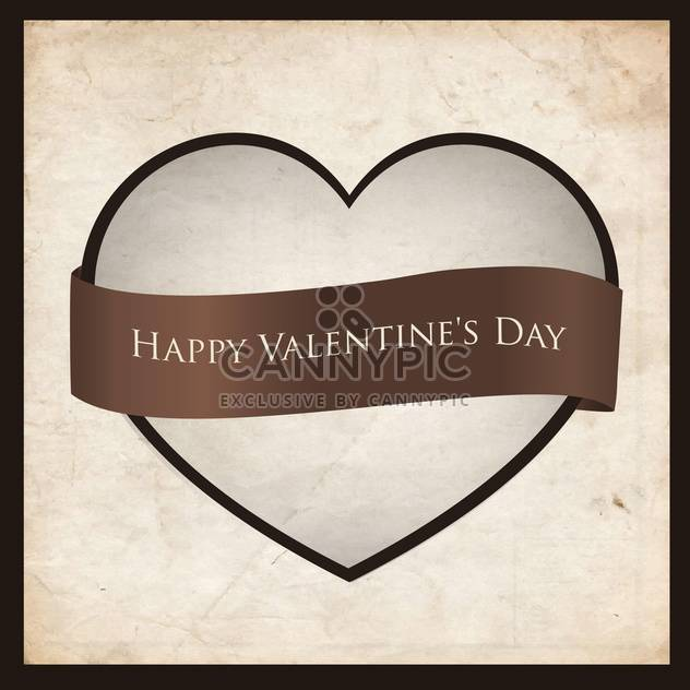 heart shaped frame with ribbon - Free vector #134823
