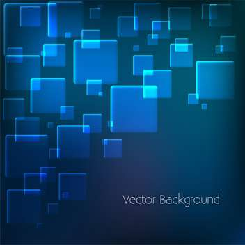 vector background with blue squares - vector gratuit #134843