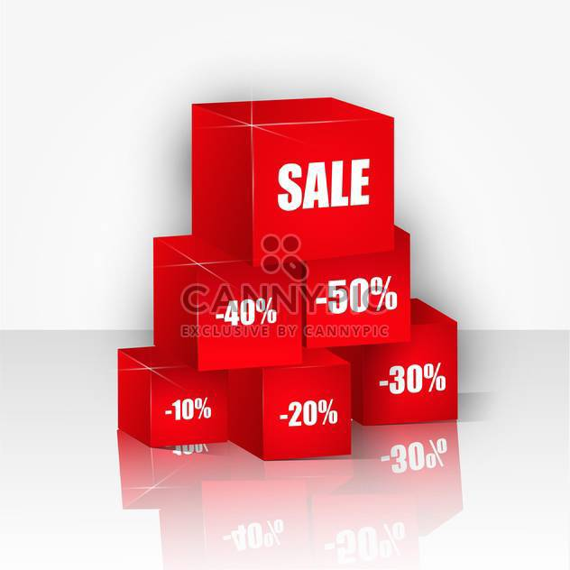 background with red boxes for sale - vector #134873 gratis