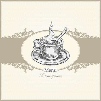 vintage menu for restaurant, cafe or bar - Kostenloses vector #134993
