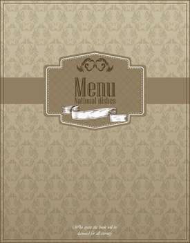 restaurant menu design with national dishes - vector gratuit #135043