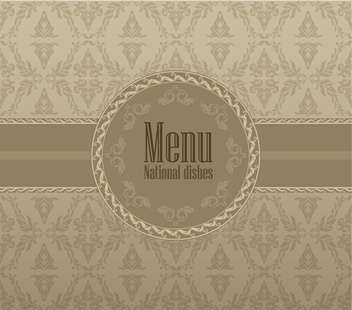vintage restaurant menu design illustration - Free vector #135083