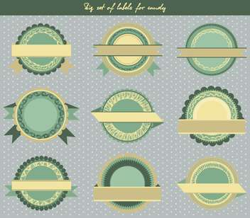 set of labels for candy in retro style - vector gratuit #135113