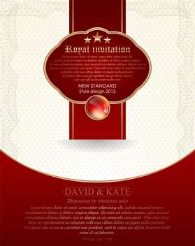 royal anniversary invitation vector - Free vector #135133