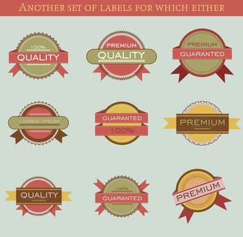 set of retro vector labels and badges background - Kostenloses vector #135203