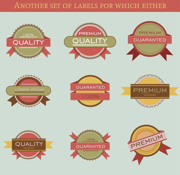 set of retro vector labels and badges background - vector gratuit #135203