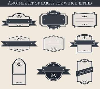 set of different labels and badges in retro style - Free vector #135223