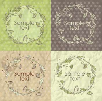 Set of floral spring frames illustration - vector gratuit #135303
