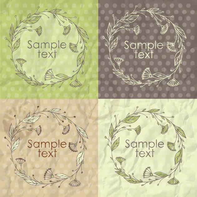 Set of floral spring frames illustration - vector #135303 gratis