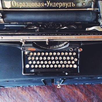 Black vintage typewriter - бесплатный image #136183