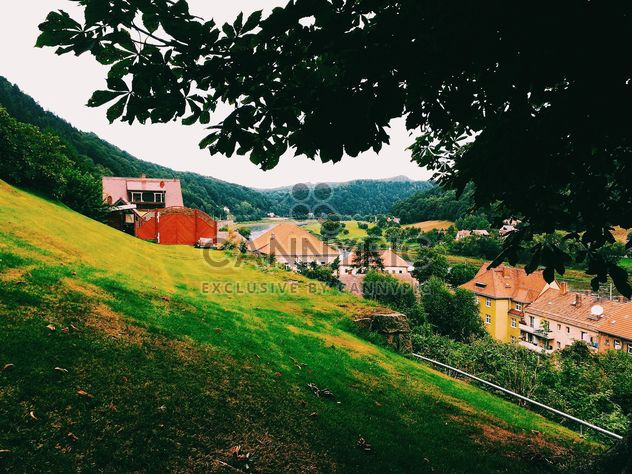 Houses on green hills - Free image #136463