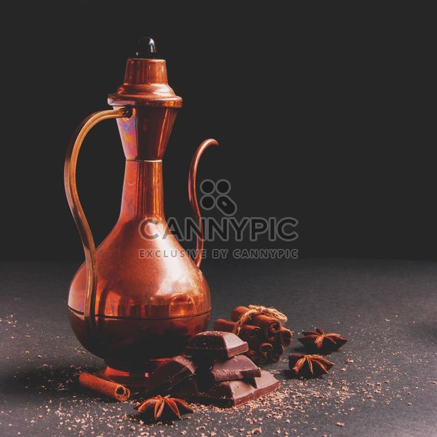 Teapot, chocolate and spices - Kostenloses image #136683