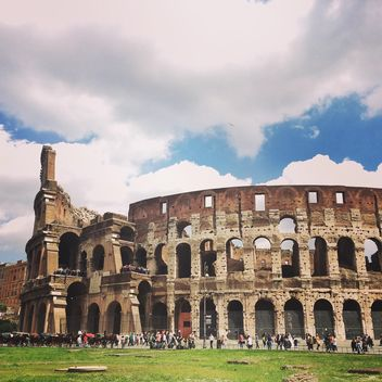 Tourists visit Colosseum in Rome - Free image #136693