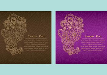 Paisley Backgrounds - vector gratuit #138693