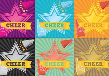Cheerleading Backgrounds Vectors - Free vector #138713
