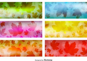 Leaves Banner Backgrounds - Kostenloses vector #138733