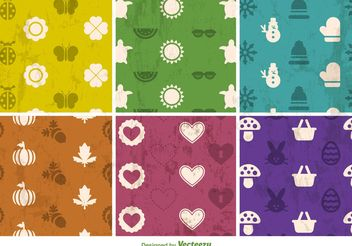 Seasonal Grunge Textured Vector Backgrounds - vector #138753 gratis