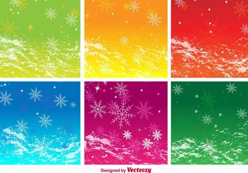 Seasonal Background Vectors - vector gratuit #138773