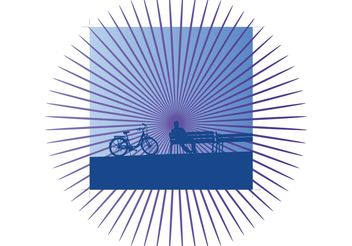 Leisure Time Bicycling - vector gratuit #138873