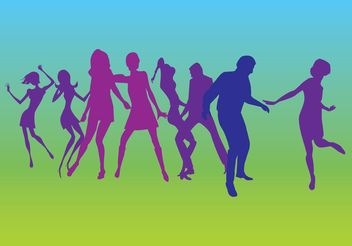 Dancers Silhouettes Vectors - Free vector #138913