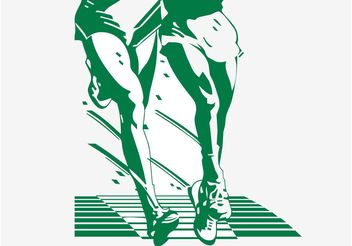 Running Legs Illustration - Free vector #138993