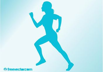 Running Woman Vector - vector gratuit #139023