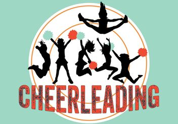Cheerleeder poster - vector gratuit #139033