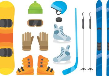 Winter Sports Equipment - vector gratuit #139083