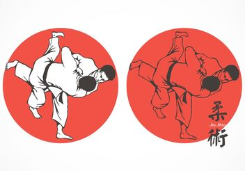 Free Jiu Jitsu Fighters Vector - Free vector #139093