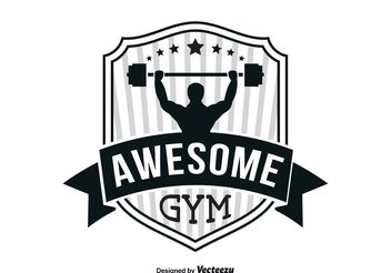 Gym Logo Template - vector gratuit #139103
