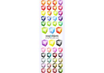 40 Vector Translucent 3D Look RSS Icons - Free vector #139193